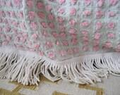 Rosebud Chenille Queen Cottage Bedspread