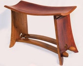 Rialto, medium size bench, recycled oak wine barrel staves from French wine barrels