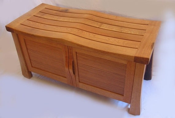 Golden Gate Solid White Oak Cabinet Large Bench Made With