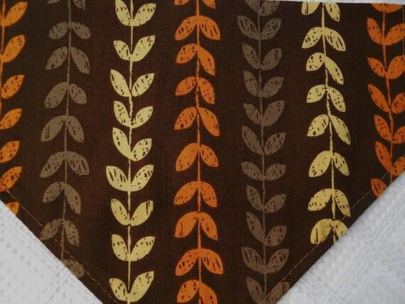 Dog Collar Bandana in Autumn Colored Vine Pattern in MEDIUM