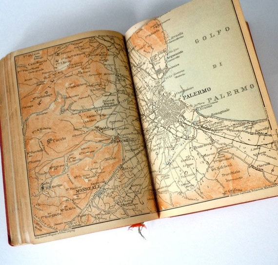 Baedeker's Southern Italy 1903 Vintage Travel Book
