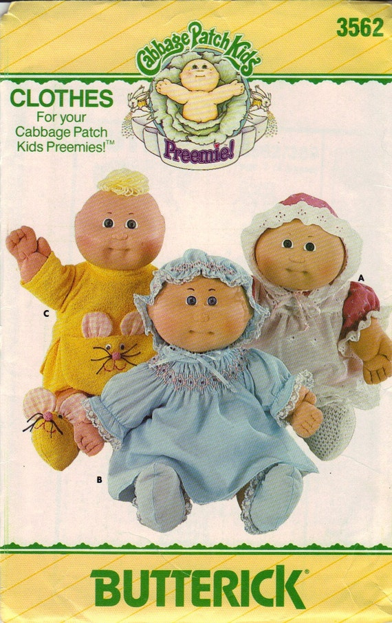 cabbage patch kids preemies doll clothes pattern