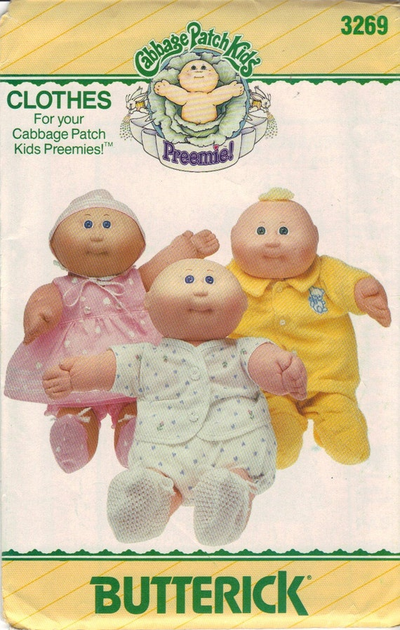 Cabbage Patch Kids Preemies Doll Clothes Pattern By