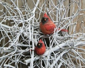 Christmas Wreath Dogwood and Cardinals SNOWBOUND