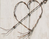 Barbed Wire Heart Rusty Vintage Industrial Decor SMITTEN
