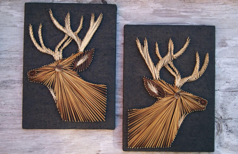 Vintage String Art Deer Pictures 3d Buck