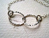 Infinity Necklace - silver circles infinity necklace, simple infinity necklace, bridesmaid gift, best friend gift, two circle necklace, N04S