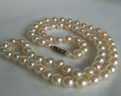 Vintage Necklace Lush Simulated Pearls 24 inch