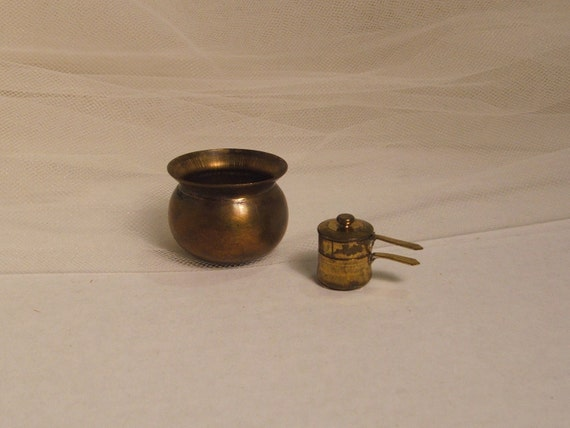 RESERVED FOR Nancy Jane Miniature Vintage Doll House Double Boiler