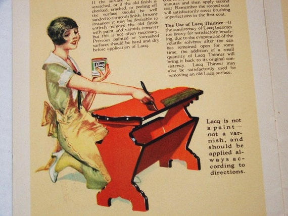 A Garden of Color in you Home Lacq Glidden Paint Decorating Ideas 1920s Booklet