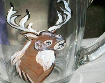 Deer Mug hand painted Hunter's must have