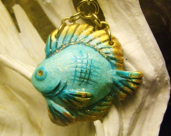 Sun Fish Pendant