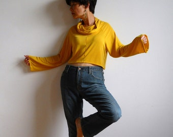 Madeleine Top-Mustard Yellow