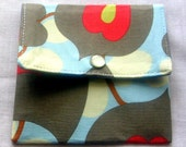 Mini wallet / Mini Pouch / Gift card Holder / coin purse Morning Glory Mini wallet  Business Card Holder Amy Butler fabric