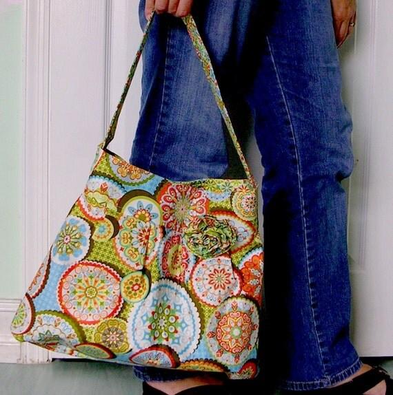 CIBER MONDAY Shoulder Bag Palm Springs in Green Every Day Bag blue,green,orange