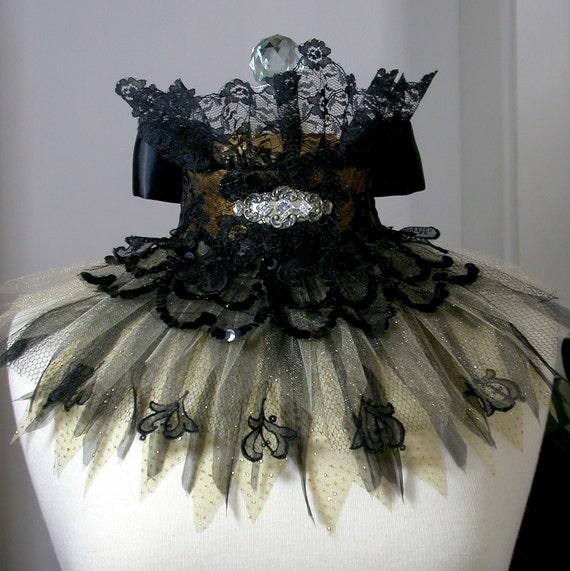 Under The Influence Noir Textile Cuff Choker