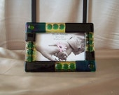 6x4 Fused glass picture frame 25
