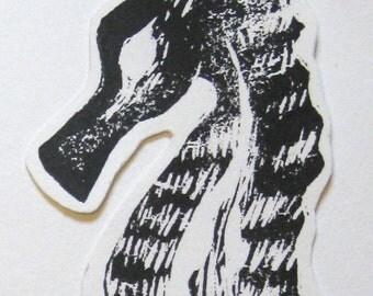 seahorse skeleton paper ornament