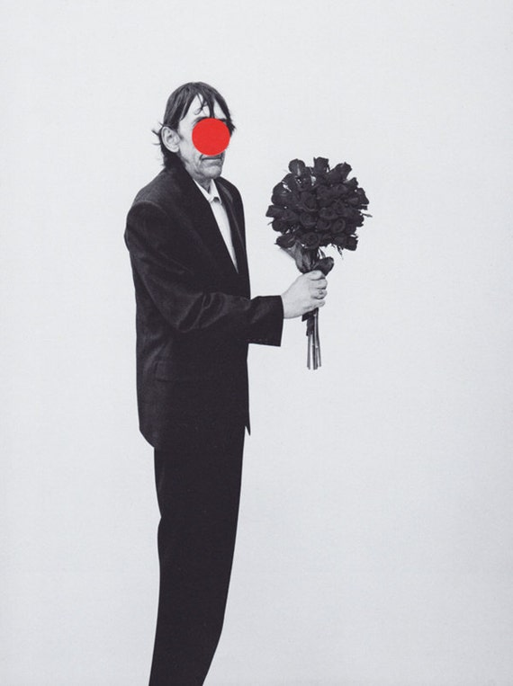 Rose BALDESSARIZED - contemporary collage original