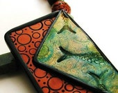 Ancient Metal Fish Fossil Necklace - Reserved