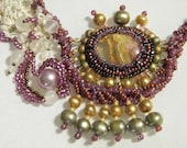 Antique French Lace and Bead Woven Necklace