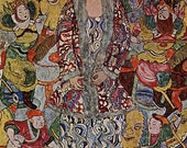 Portrait of Frederika Maria Beer by Klimt mono deluxe Needlepoint Canvas