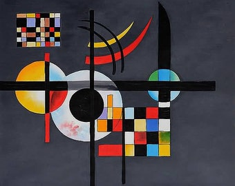 Gravitation by Wassily Kandinsky on mono deluxe Needlepoint Canvas