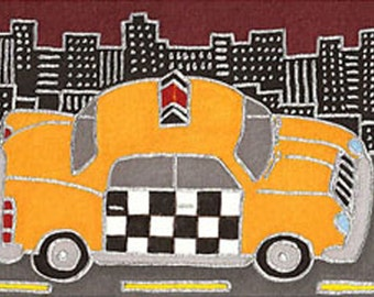 Taxi by David Venne mono deluxe Needlepoint Canvas