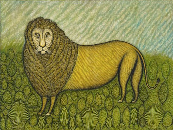 Lion by Morris Hirshfield mono deluxe Needlepoint Canvas