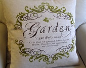 GARDEN CHIC Pillow 22x22  in Green Citron insert included