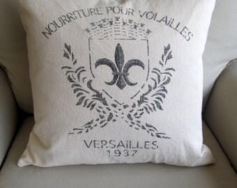 Fleur De Lis decorative designer throw accent toss pillow 20x20 includes insert