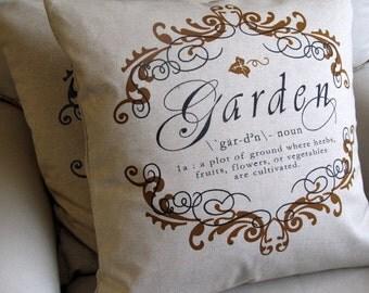 GARDEN CHIC Pillow 22x22 in Sienna insert included
