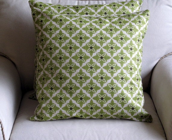 Celery Green Throw Pillow : Items similar to CELERY green geometric decorative designer ikat Pillows 20x20 with Inserts on Etsy