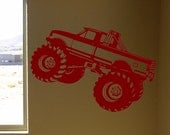 Monster Truck viny wall decal