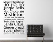 Christmas subway art- Vinyl Wall Decals Stickers Art Graphics Words Lettering vinyl wall decal (medium)