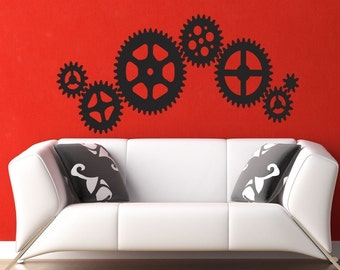 Vinyl Decal Gears