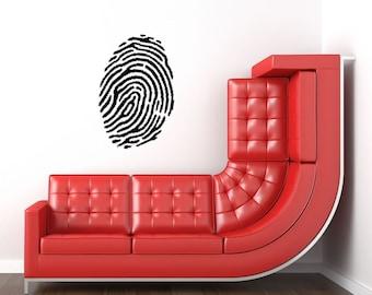 Fingerprint vinyl wall decal