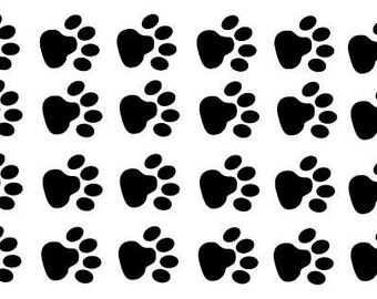 Vinyl wall decals - Paw Prints