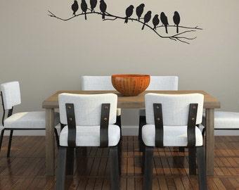 Birds on a branch Vinyl Wall Decal (medium)