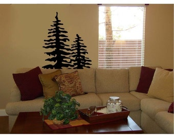 Pine Tree Vinyl Wall Decal