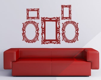 Baroque Picture Frame Set - Vinyl Wall Decals