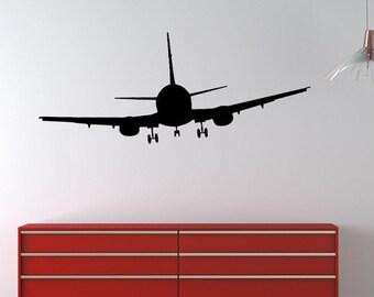 Airplane Modern vinyl wall decal