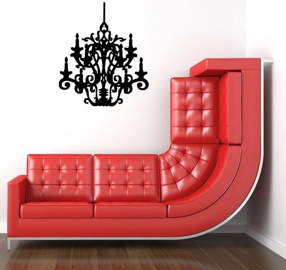 Elegant Chandelier viny wall decal