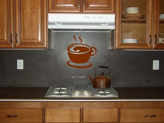 Coffee in the Morning Vinyl Wall Decal Sale in CHOCOLATE