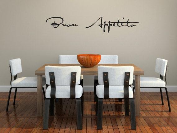 Buon Appetito script Vinyl Wall Decal (small) SALE item in basic black