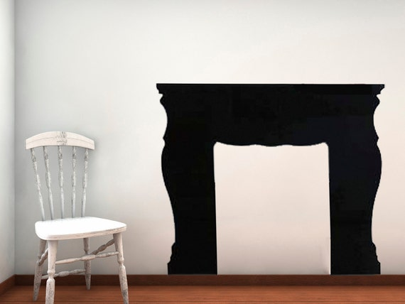 Items similar to Fireplace Mantel Vinyl Wall Decal on Etsy