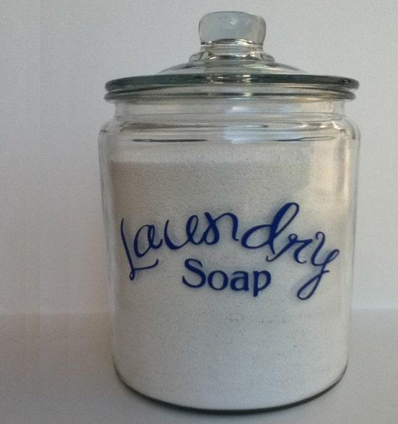 Laundry Soap jar vinyl 2 gallon size SALE ITEM  in Royal Blue