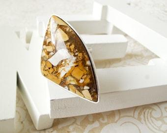 Brecciaed Mookite Ring