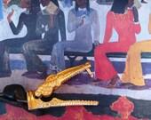 Gold Alligator Vintage Belt