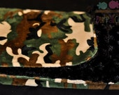 Couture double minky  Military CAMEOFLAUGE Blanket
